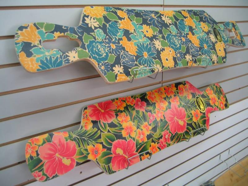 Tropical longbaord decks  at Bigfoot Bike & Skate, Milwaukee, WI 53207