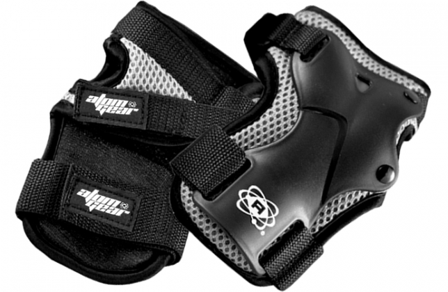 atom wrist guards at bigfoot bike and skate, milwaukee, wisconsin
