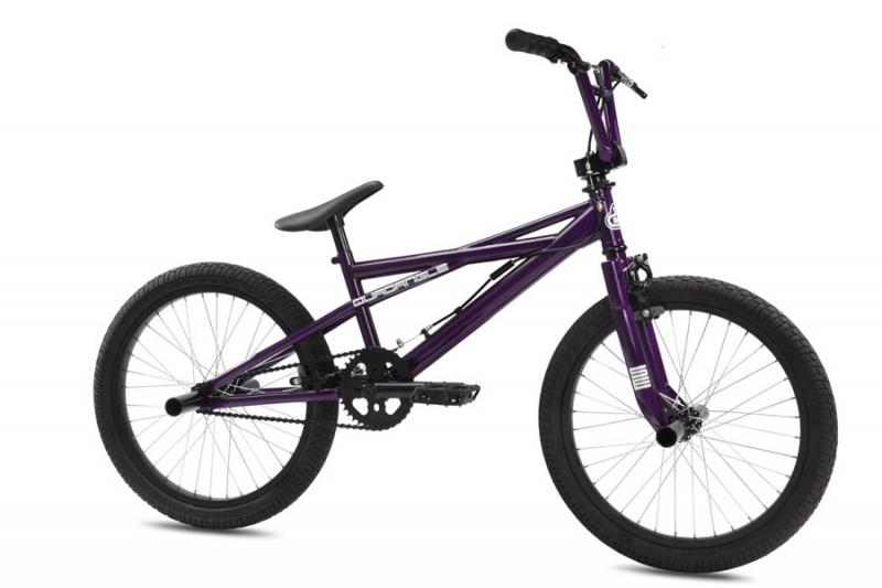 "S E Bikes 20"" quadangle freestyle bmx @ bigfoot bike and skate, milwaukee, wi"