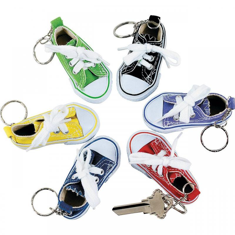Sneaker key chains at Bigfoot Bike and Skate, Milwaukee, WI 53207.