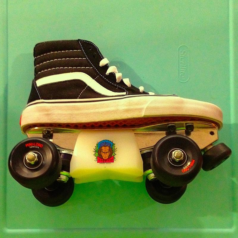 0280f53d4b489f Vans sneaker skates with bigfoot blox (slider blocks) at Bigfoot Bike    Skate.